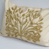 Glitzy glamour pillow covers