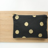 Black Gold Dot Clutch