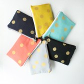 Clutches with Gold Dots
