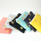 Gold Polka Dot Clutches