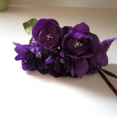 Purple Dahlia Flower Crown
