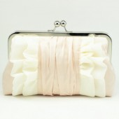 FLUTTER CLUTCH : PORCELAIN ON BLUSH {MORE COLOURS}