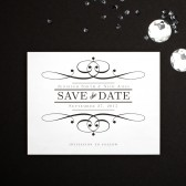 This classy and elegant save the date card has a subtle textured background that makes for a memorable card.