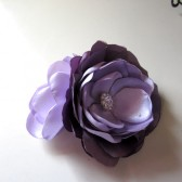 Large Lilac dreams Double flower brooch pin Handmade weddings Sash belt corsage pin