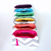 Rainbow monogram clutch bags
