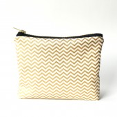Gold Chevron Clutch