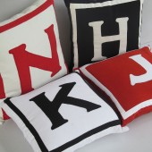Custom made monogram pillows - customize color, size, design and size