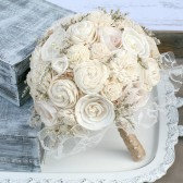 Crea, Sola Flower & Paper Rose Bride's Bouquet