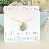 bridesmaid Necklace, Bridesmaid Gifts, Gold Necklace, personalized necklace, initial necklace