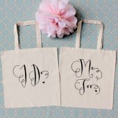 "Photo Prop Wedding ""I Do"" & ""Me Too"" Tote Bags- Set of 2"