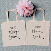 Ring Bearer and Flower Girl Tote Bags Set of 2