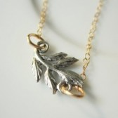 Gold & Silver Leaf Necklace