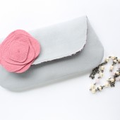 Grey and Pink Clutch