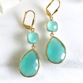 Aqua Bridesmaids Earrings