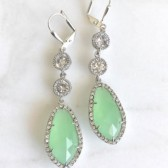Mint Bridal Earrings