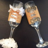 Leather Toasting Flutes