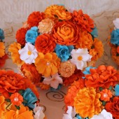 Paper Bouquet - Shades Of Orange