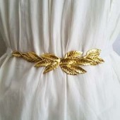 Wedding Belt Gold, Bridal Belt and Sashes, Gold Leaf Belt, Wedding Sash Gold, Wedding Sash Vintage, Gold Belt Wedding, Gold Sash, Gold Belt