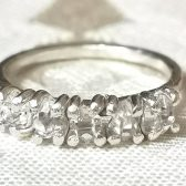 Five stone Herkimer diamond quartz crystal band by Gaia\'s Candy