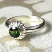 Green tourmaline engagement ring by Gaia\'s Candy
