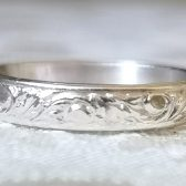 Patterned silver wedding band by Gaia\'s Candy