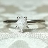 Rough white diamond ring by Gaia\'s Candy