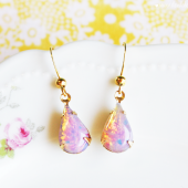 Teardrop Opal Earrings