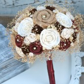 Rich Maroon Bride's Bouquet