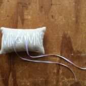 Mr and Mrs ringbearer pillow
