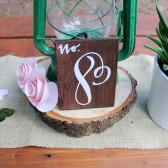 Wood Table Numbers Calligraphy Wedding Table
