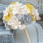 Grey and Sunshine Yellow Bouquet