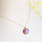 Vintage Pink Opal Necklace