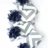 Navy and Gray Chevron Clutch Set