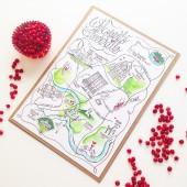City Wedding Map Keepsake