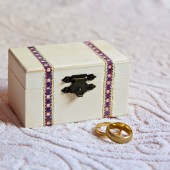 Small Primitive Ring Bearer Box - Pillow Alternative - Minimalist Shabby Chic Rustic Boho