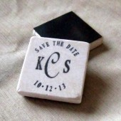 Classic Monogram Save the Date Magnets