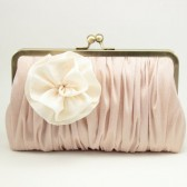 POMP & POSY CLUTCH : IVORY ON BLUSH {MORE COLOURS}