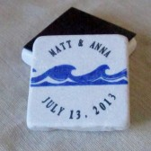 Wave Wedding Favor or Save the Date Magnet