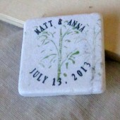 Bamboo Wedding Favors/Save the Date Magnets
