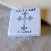Cross Wedding Favor or Save the Date Magnet