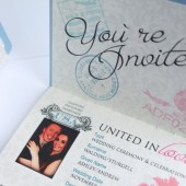 Destination Passport Wedding Invitations