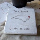 North Carolina Wedding Favor Coasters