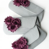 Gray and Plum Clutch Set