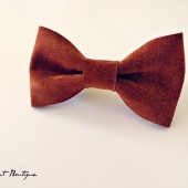 Leather Bow Tie- Groom, Groomsmen, Ring Bearer