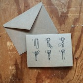 How to tie a tie Groomsmen Card
