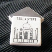 Taj Mahal Wedding Favor Magnets