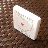 Ohio State Outline Favor Magnets/Save the Date