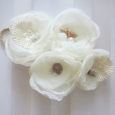 beach wedding ivory chiffon flowers