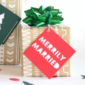 Merrily married gift tag set