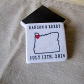 Oregon State Outline Wedding Favors